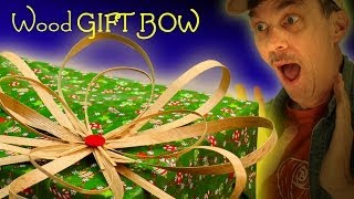 How To Make A Wooden Gift Bow Or Wreath