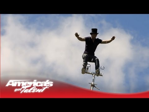 Slackwire Sam Johnson - Performer His Sway Pole Into a Catapult Swing - America's Got Talent 2013