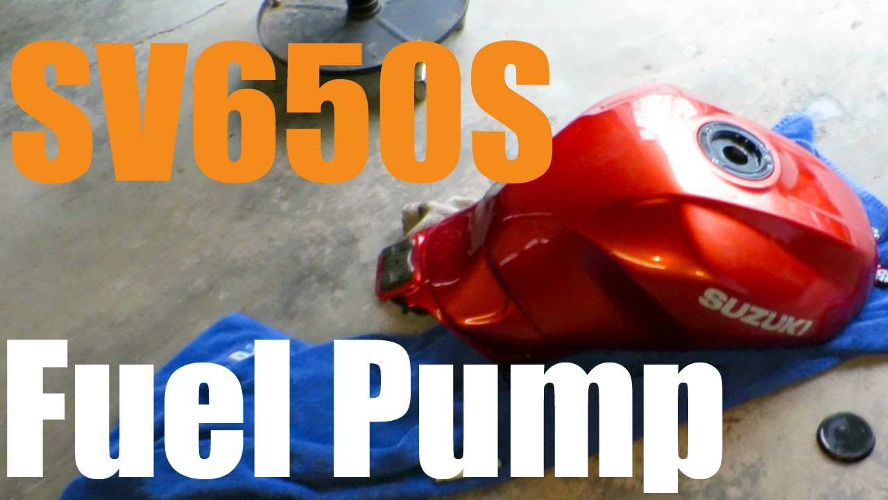 sv650s motorcycle fuel pump replacement