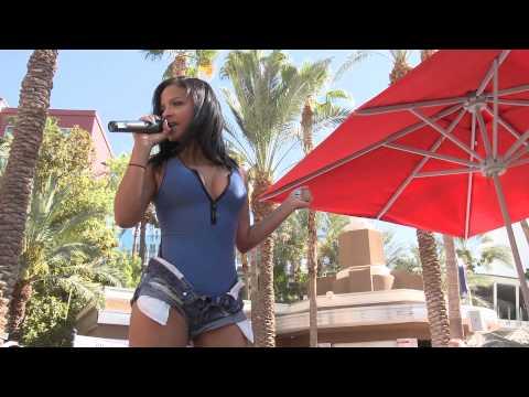 Christina Milian Turns Up Flamingo GO Pool and the LINQ Pool in Las Vegas