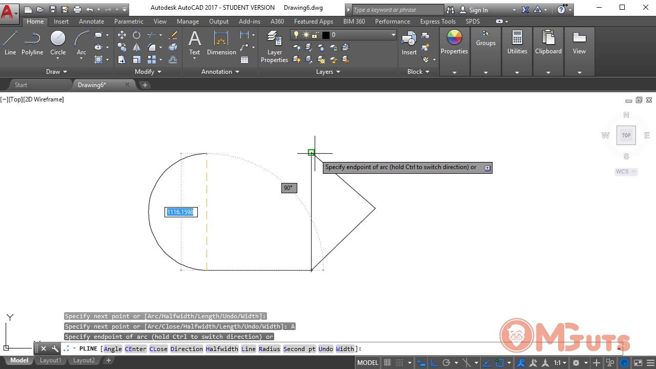 Autocad Polyline tool - Free Autocad video tutorials