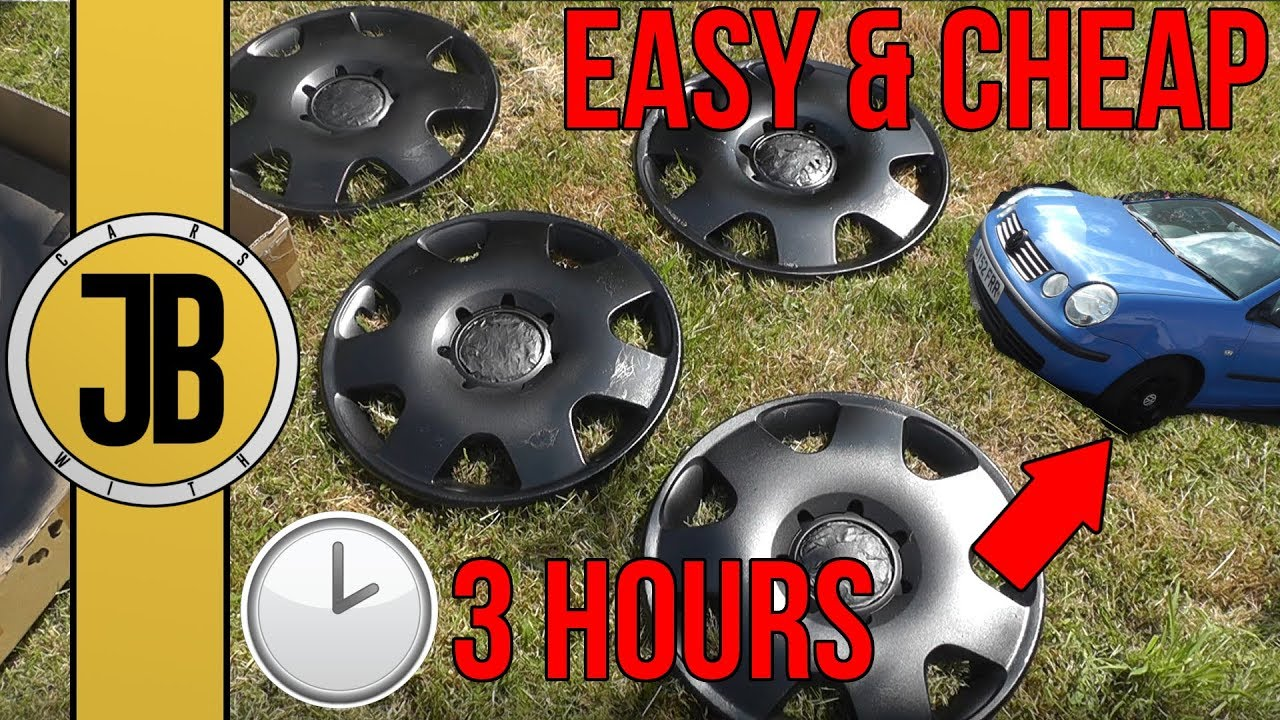 Spray Paint Your Hubcaps Black (& More Colours) THE EASY, FAST & CHEAP WAY!  | Pointless Polo Project