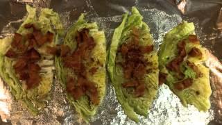 Baked Cabbage  & Shrimp Scampi