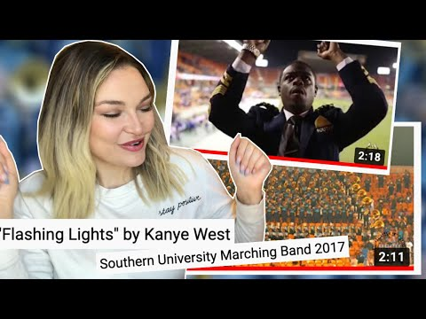 New Zealand Girl Reacts to SOUTHERN UNIVERSITY MARCHING BAND - FLASHING LIGHTS - KANYE WEST