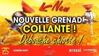 NOUVELLE GRENADE DÉBOUCHE CHIOTTE ! FORTNITE BATTLE ROYALE