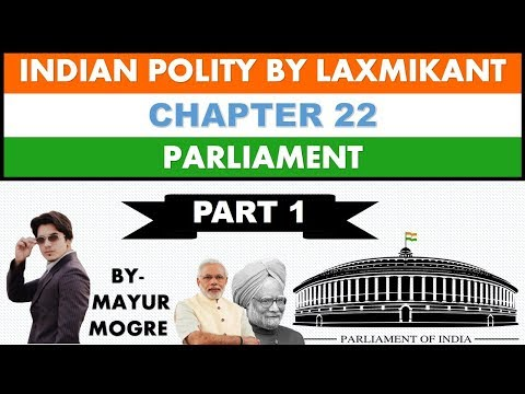 Indian Polity by Laxmikant chapter 22- Parliament (Part 1)|L