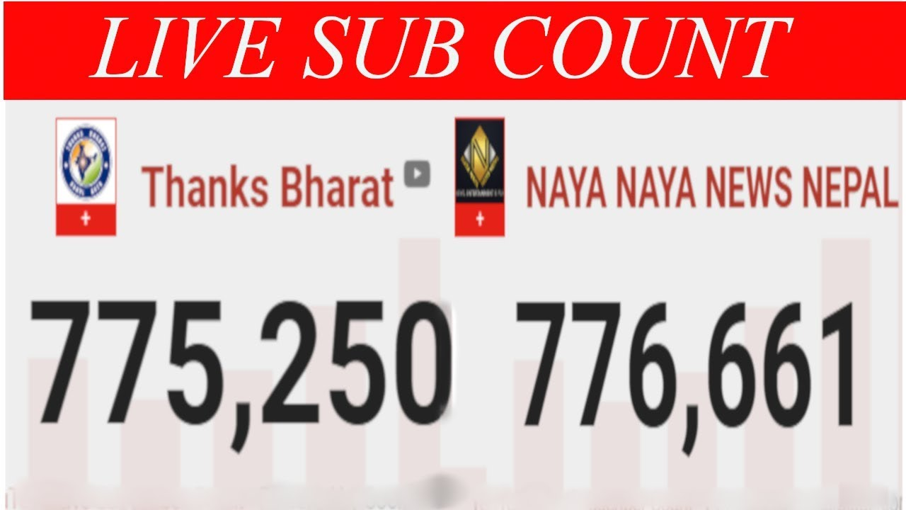 Thanks Bharat Vs Naya Naya News Nepal Live Sub Count : Who Will