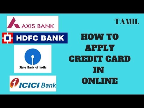 how to apply credit card in online   tamil