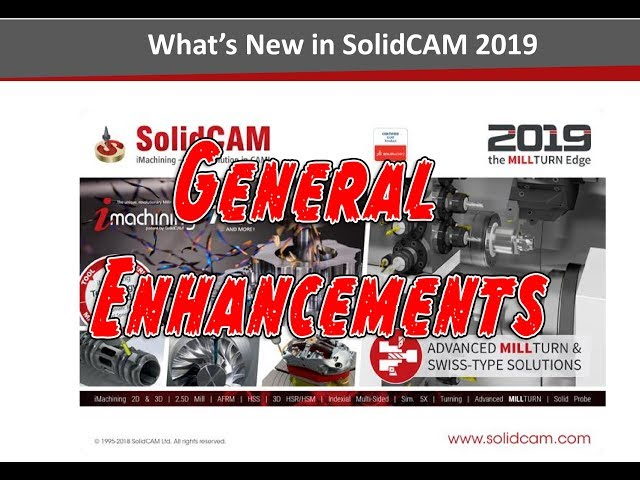 Whats New in 2019 - General Enhancements