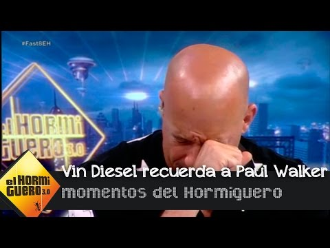 Vin Diesel se emociona al recordar a su compañero fallecido,