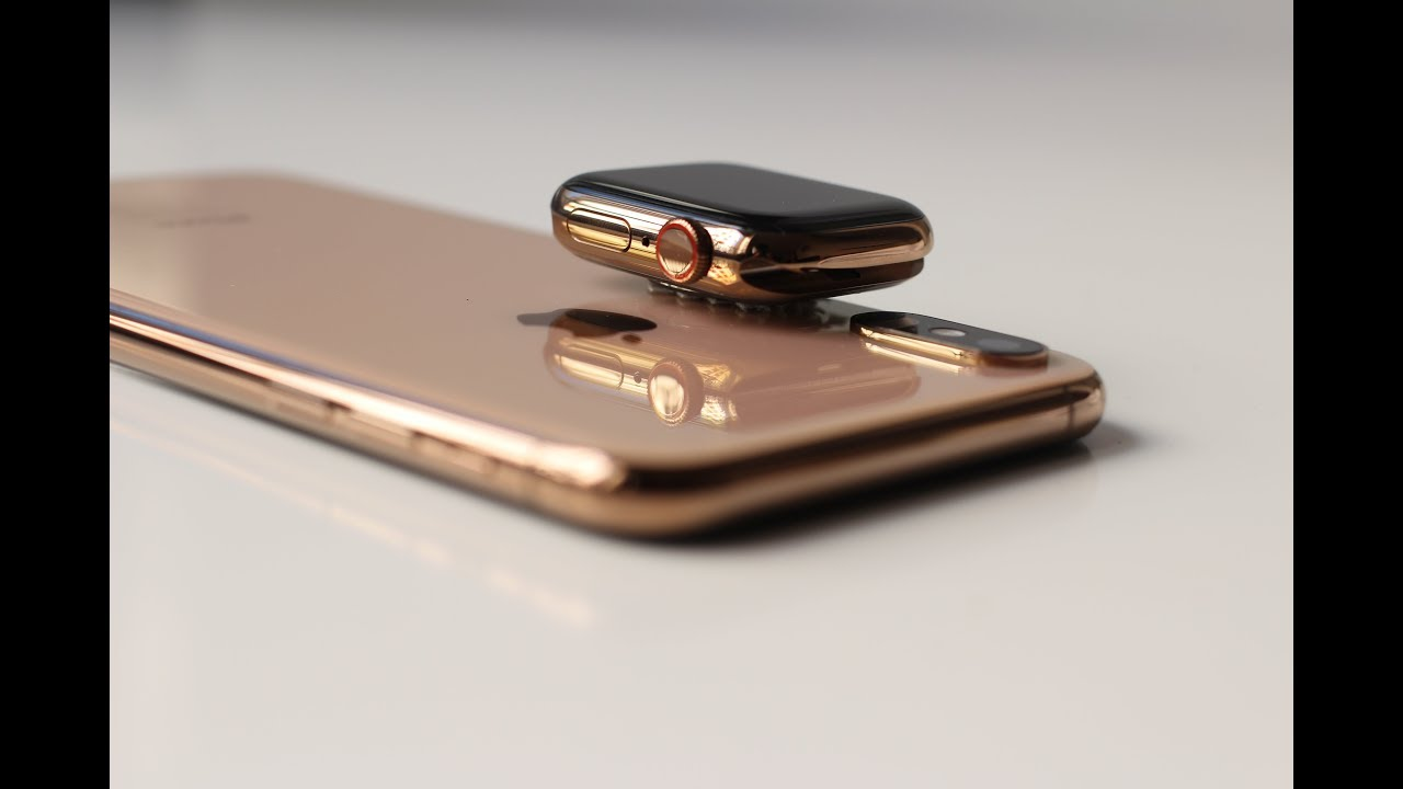sale retailer 357b1 cc973 GOLD Combo Unboxing! iPhone Xs Max & Apple Watch Series 4 first view
