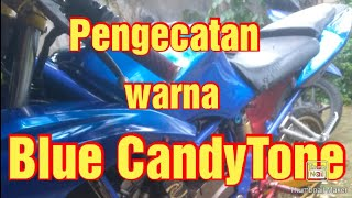 Pengecatan Blue CandyTone body Ninja RR