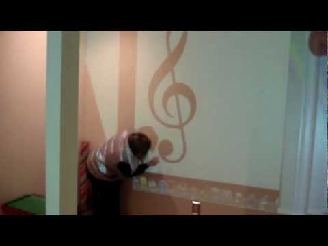 Musical Note on the wall - wall art