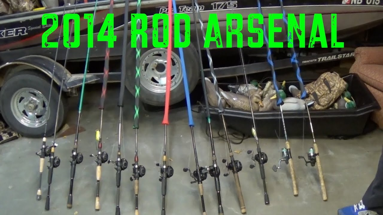 2014 rod and reel arsenal bass fishing youtube for Flair fishing rod