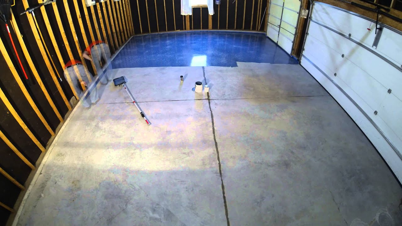 Valspar Garage Floor Epoxy Application November 2 Youtube