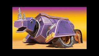 АнимаКары - НА ПОМОЩЬ! НОСОРОГ САМОСВАЛ тонет в зыбучем песке - мультфильмы с грузовиками с машинами