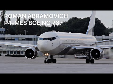 "▶ Roman Abramovich ""The Bandit"" Boeing 767-300ER [P4-MES] Departure at Salzburg"