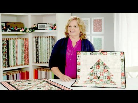 Carmen Geddes' Christmas Table Runner & Christmas Tree Mini Quilt