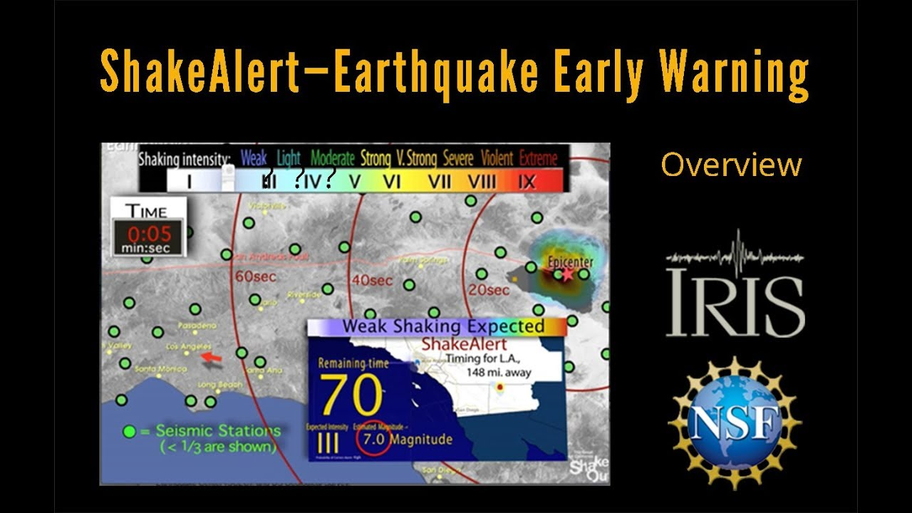 ShakeAlert—Earthquake Early Warning  How does it work?