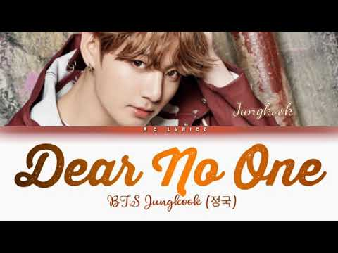 "Download BTS JUNGKOOK"" DEAR NO ONE "" (Color Coded lyrics) /eng"