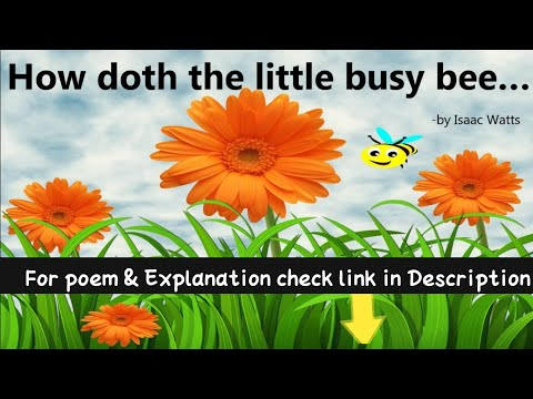 A Parody Poem:How doth the little busy bee:How doth the little crocodile:English Poem:7th Standard