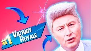 UNCLE MORFAR GIVES ME a SOLO WIN (Fortnite)