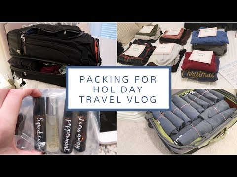 Packing for Holiday Travel Vlog | Dec. 18-20, 2017