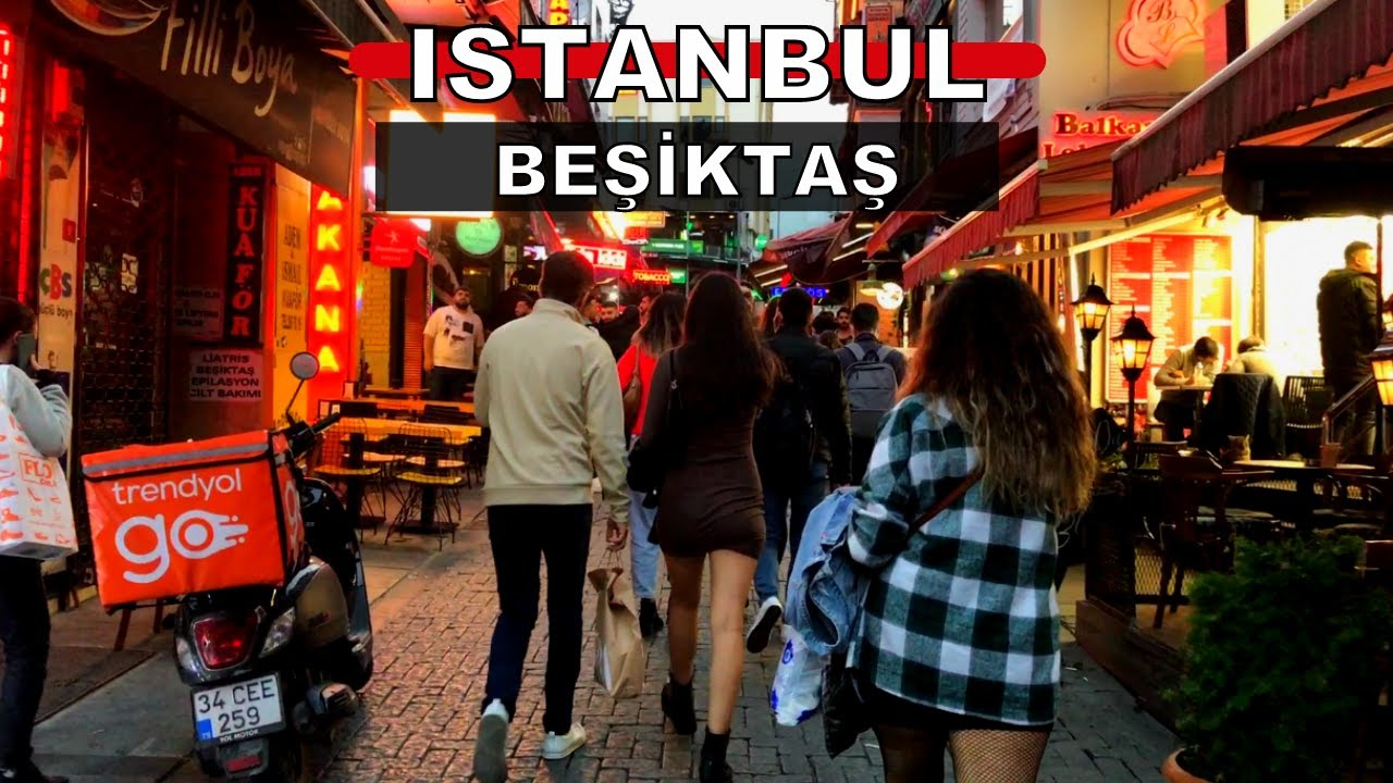 Download The most popular place in Istanbul | Istanbul City 2021 Beşitas Night Walking Tour | 4K