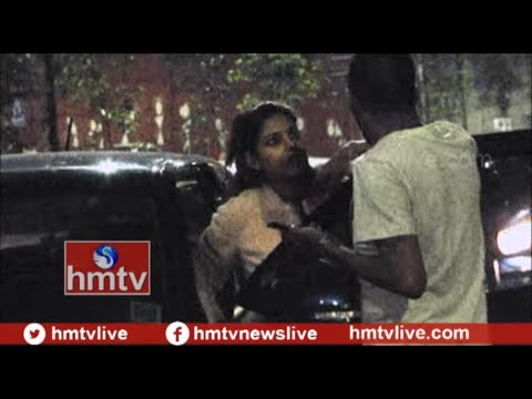 Drunken Woman Fight With Police in Hyderabad | Telugu News | hmtv