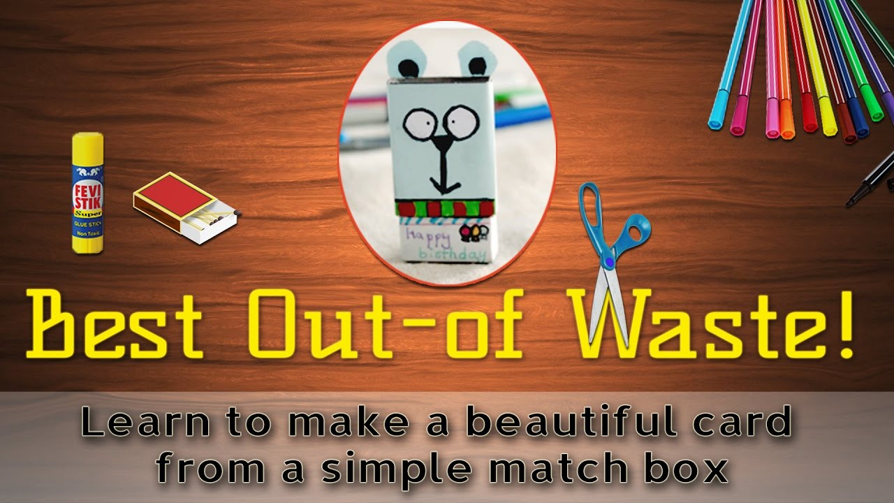 How To Make A Greeting Card From Waste Material Youtube
