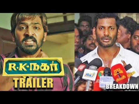 R K Nagar Official Trailer Reaction | Venkat Prabhu | Vaibav | Premji