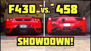 My Ferrari F430 VS My 458 Italia **ULTIMATE SHOWDOWN**
