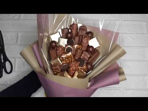 Букет из конфет за 210 рублей. День учителя. DIY. Tasty Bouquet.