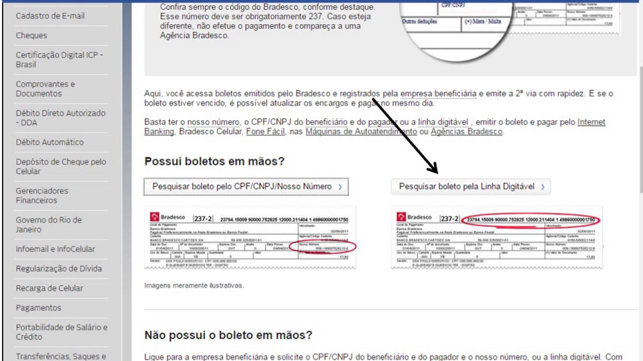 400cf5c98d7d6 Tutorial de Atualização de Boletos bancários - Bradesco - YouTube