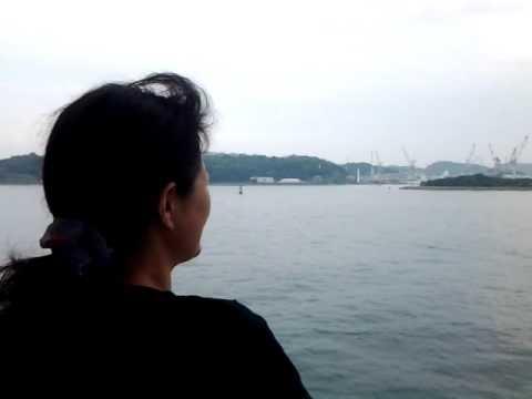 関釜フェリー 船上から 巌流島 を見る 【 乃万さん家の 夏休み 家族旅行 2016 】