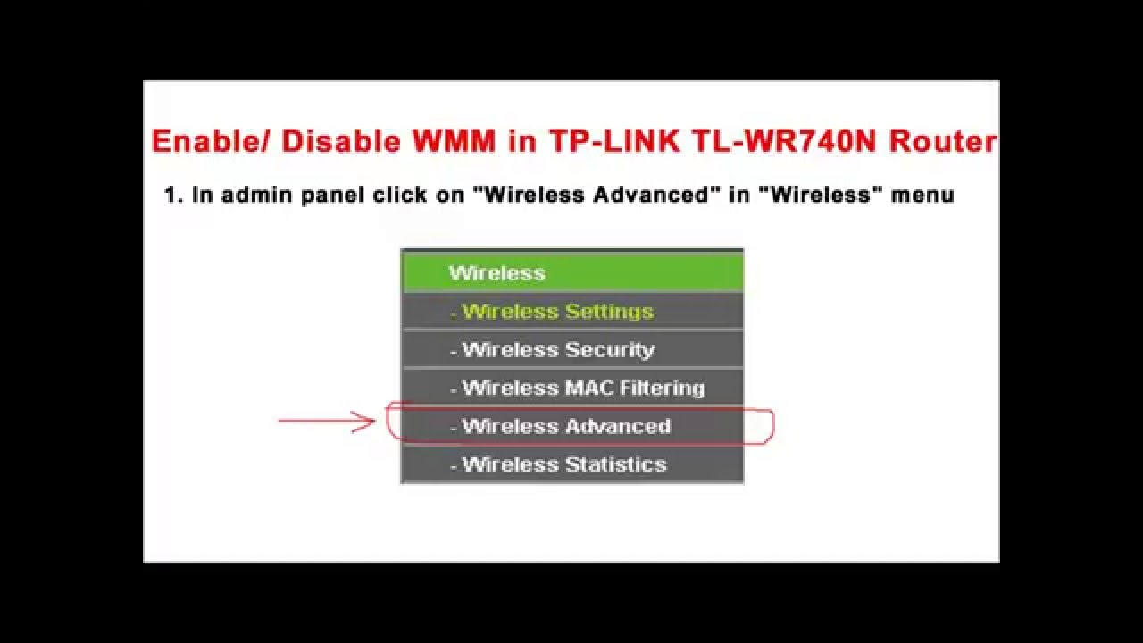 TP Link TL WR740N wireless router wmm settings