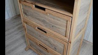 Laminate flooring bookshelves with drawers