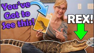 Storytime with our Alligator Rex!