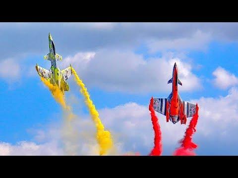 GIGANTIC !!! RC FLIGHT SHOW WITH 2 NEW SAB TURBINE MODEL JETS AEROBATICS AND FLIGHT DEMO