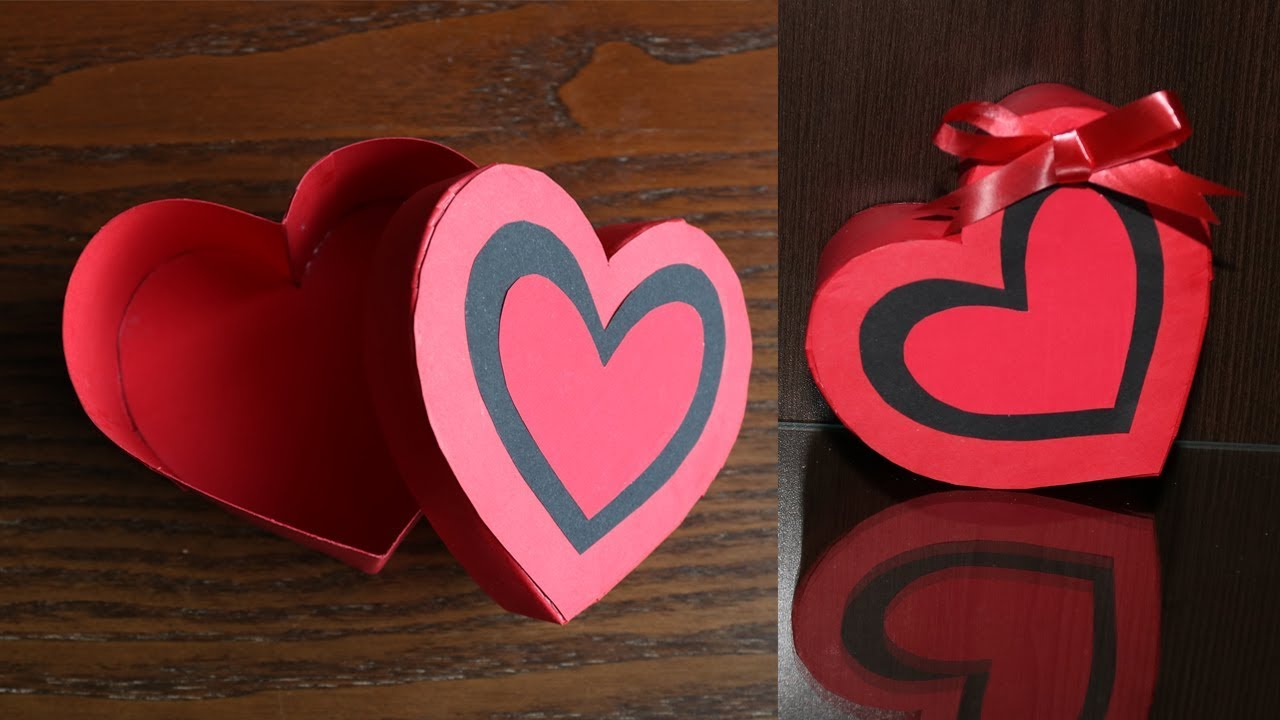 How To Make A Heart Shaped Paper Gift Box Heart Box Paper Craft