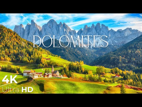 Dolomites 4K - Amazing Beautiful Nature with Piano Relaxing 3 hours