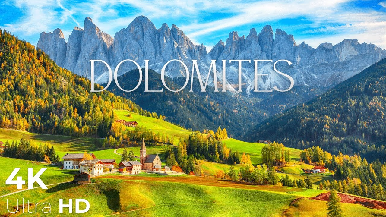 Download Dolomites 4K • Amazing Beautiful Nature of Italy Alps with Piano Relaxing 3 hours • Relaxation Film