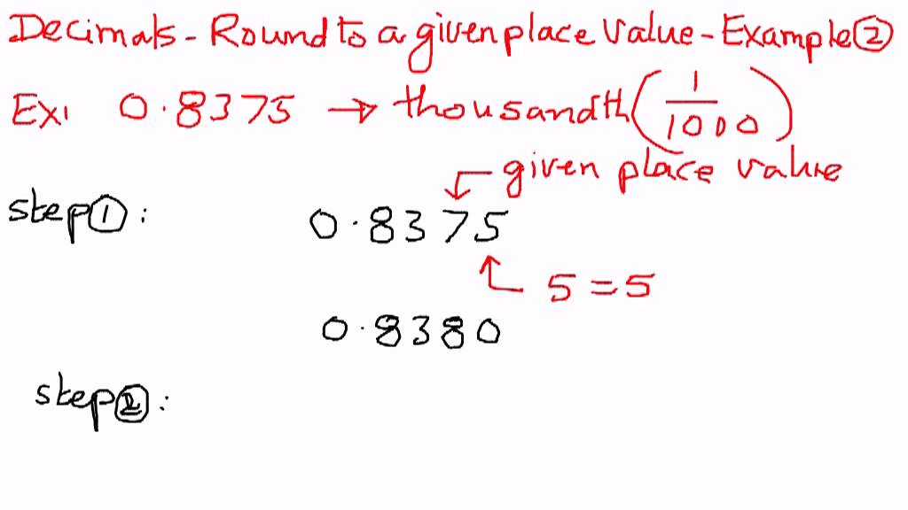 Worksheets Decimal Definition With Example decimals round to a given place value example 2 youtube 2