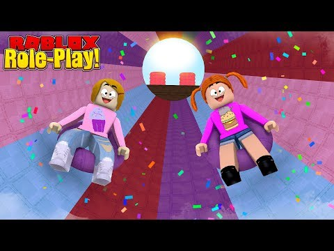 Roblox Roleplay - Riding The Biggest Water Slide Ever! - baby alive swimming