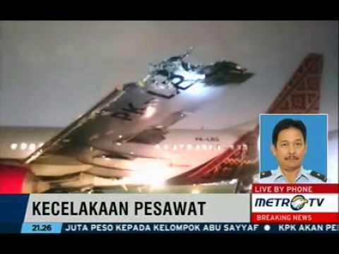 Pesawat Batik Air Berbenturan Dengan Trans Nusa Di Lanud Halim Perdanakusuma.