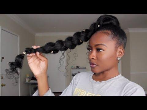 jumbo braid goddess ponytail