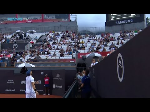 Pablo Cueves Sends Racquet Skyward and into Crowd at Rio Open