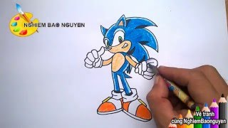 Vẽ Sonic/How to Draw Sonic