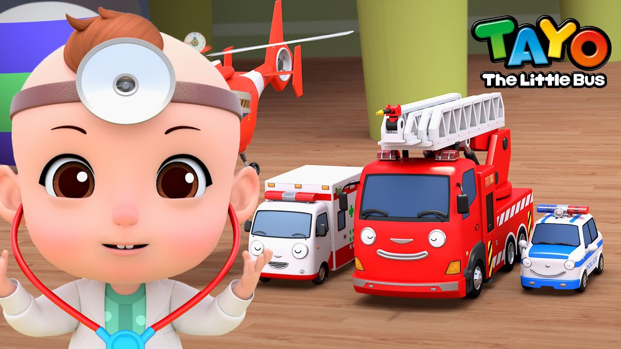 [NEW] Let's be a doctor who cares the rescue team l Checkup Song l Baby Tayo Kids Songs
