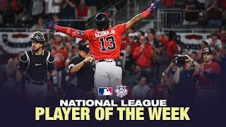 Acuna Jr. named the NL Player of the Week